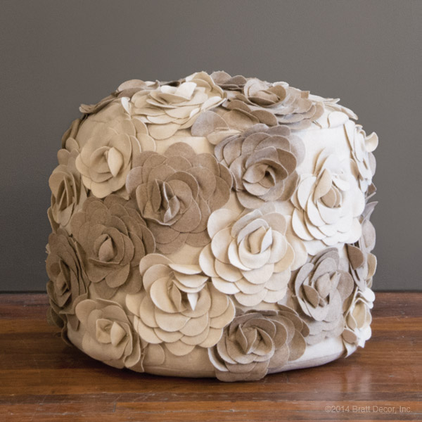 Terrific Flower Pouf Gmtry Best Dining Table And Chair Ideas Images Gmtryco