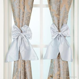 blue gold champagne metallic curtains