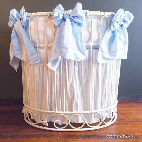 serafina j'adore cradle bedding - white