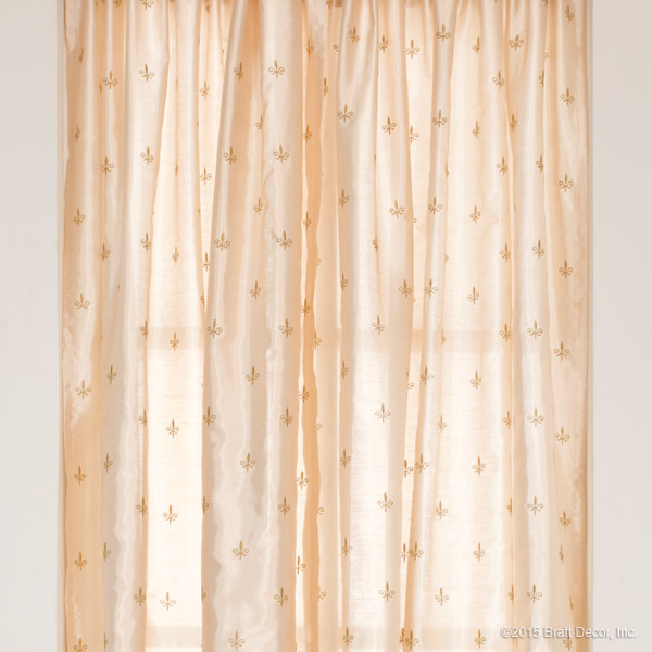 Fleur De Lis Curtain Panels Set Of 2