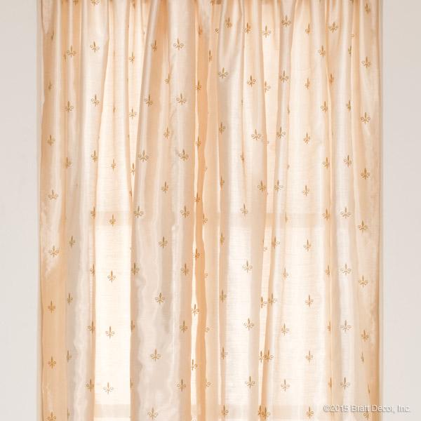 Fleur De Lis Curtain Panels Set Of 2