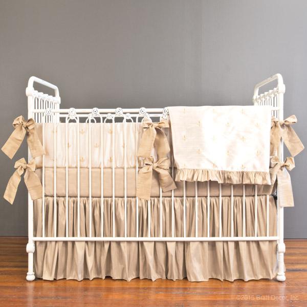 Fleur De Lis Baby Crib Bedding