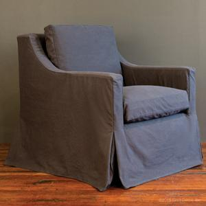 slipcovered club glider - charcoal denim