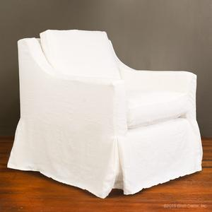 slipcovered club glider - white linen