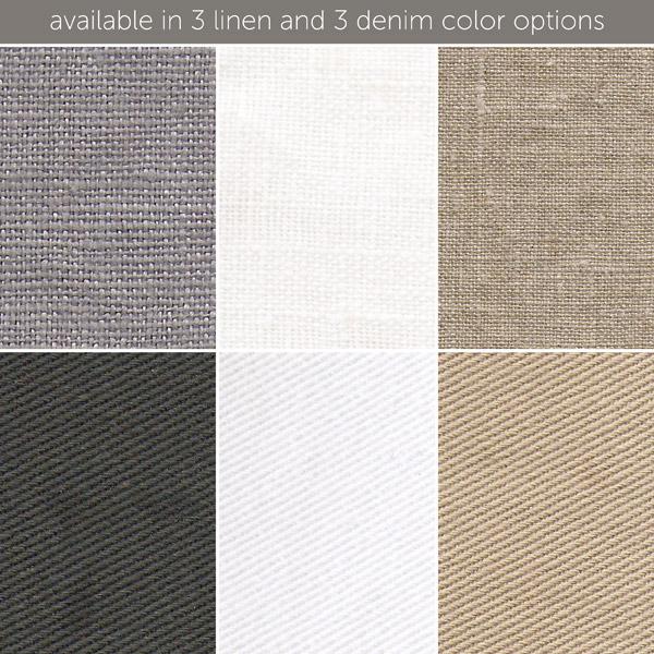 slipcovered club glider - gray linen