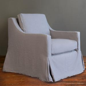 slipcovered club glider - gray linen