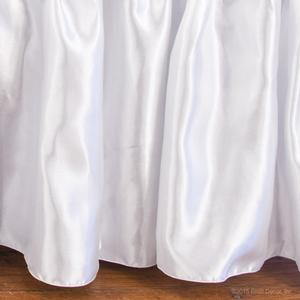 round satin skirts oval dust