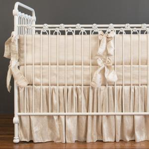 monroe crib bedding - natural