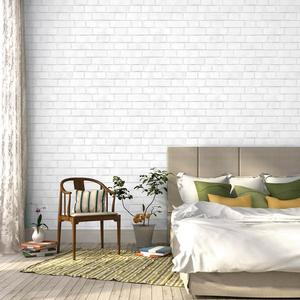 brick wallpaper in white