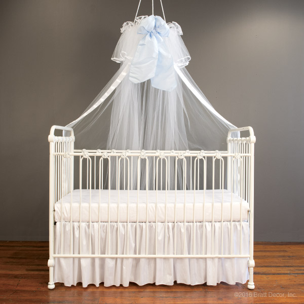 canopies veil veils bows bow ... : crib with canopy white - memphite.com