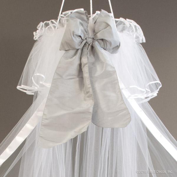 serafina crib canopy - white