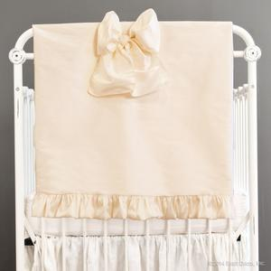 faux silk pram blankets comforter