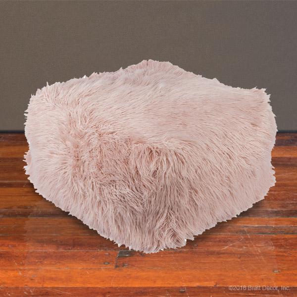 shag pouf rose. Black Bedroom Furniture Sets. Home Design Ideas