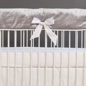 girl neutral silver bedding bumperless