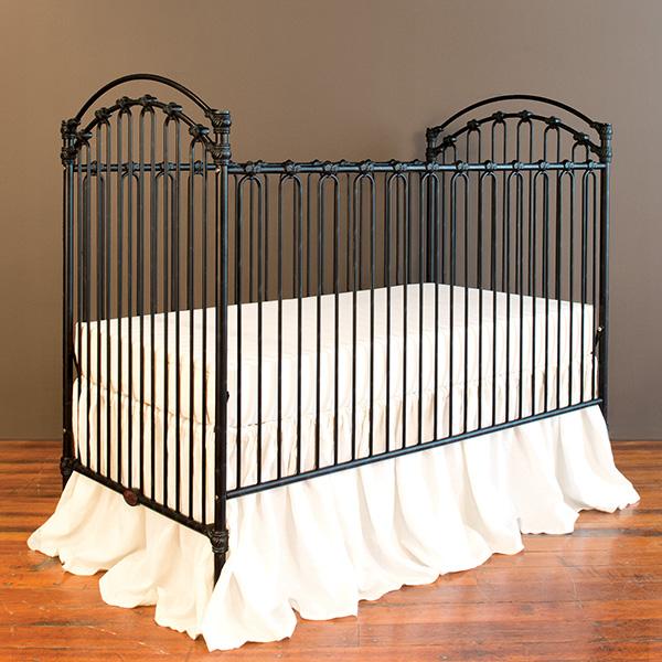 Venetian ii crib distressed black