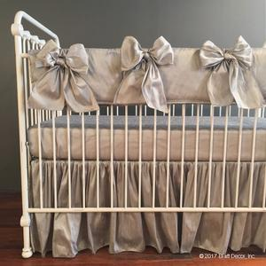 large linen cribs solid beige bedding ivory carousel designs crib blue light