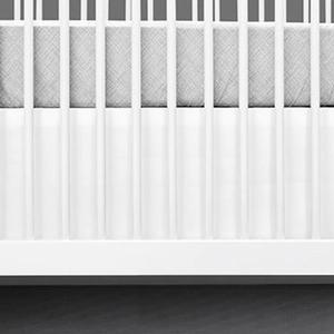 white crib skirt modern simple