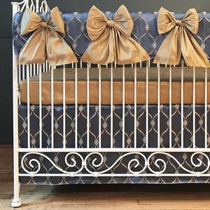 royal bleu crib rail collection