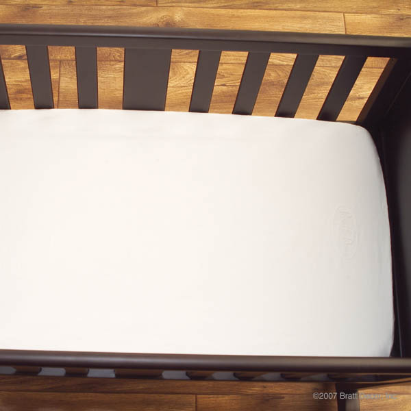 chelsea cradle fitted sheet in white