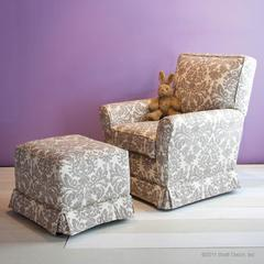 ophelia dove glider and ottoman