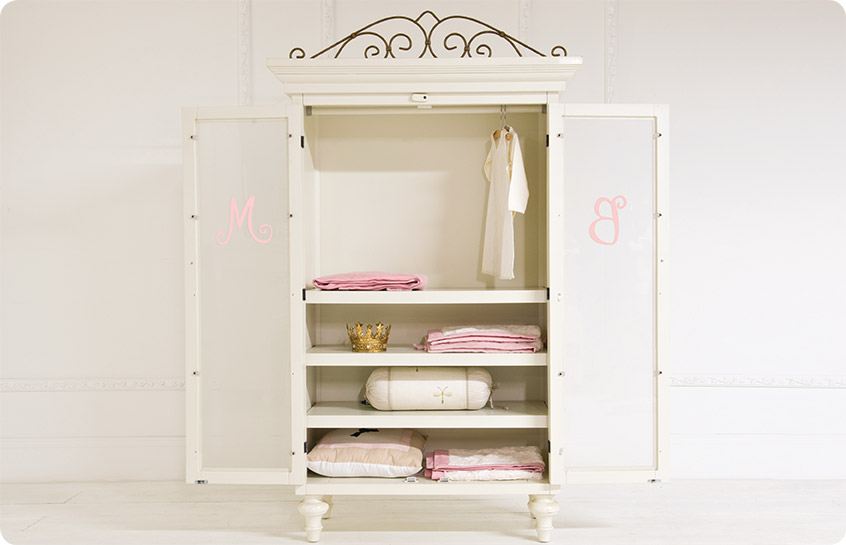 Vintage Style Large Baby Armoires Wardrobes
