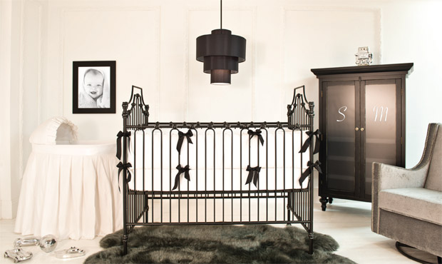Smart and elegant, this black and white nursery is edgy and seriously designer savvy.
