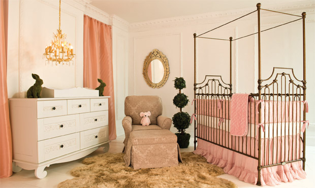 Perfectly appointed with a feeling of European style, this pretty in pink nursery is perfect for your little princess.