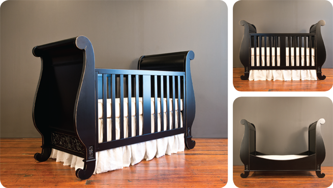 chelsea sleigh collection distressed black