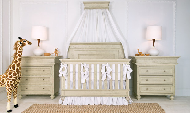With timeless appeal and a crib that converts to daybed, loveseat and full bed, this classic nursery guarantees to meet your needs for style, quality and luxury throughout the years. We also love the neutral, clean crisp palette!