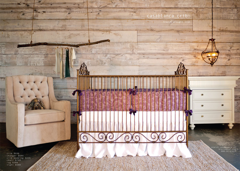 casablanca crib: french wrought iron